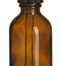 Photo of 2 oz Amber Boston Round Glass Bottle with Dropper