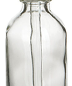 Photo of 2 oz Clear Boston Round Glass Bottle with Dropper