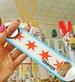 chicago flag beer bottle opener