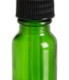 Photo of .5 oz Green Boston Round Glass Bottle with Dropper