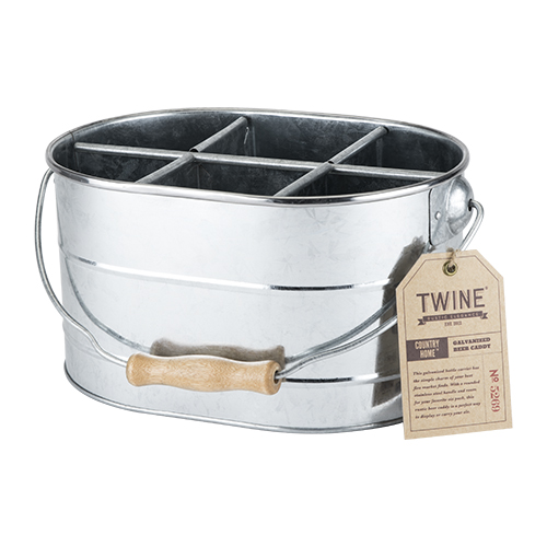 country home  galvanized drink caddy - chicago bar store