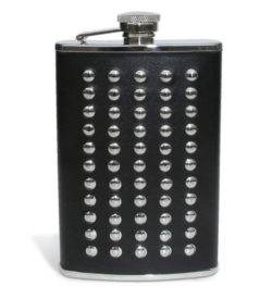 Leather Riveted Flask 8oz