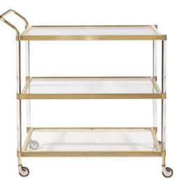 photo of Brushed Gold Bar Cart