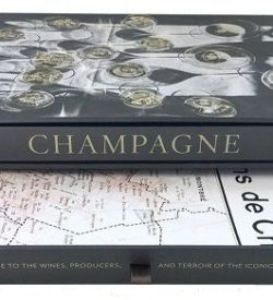 Champagne box map and book gift set