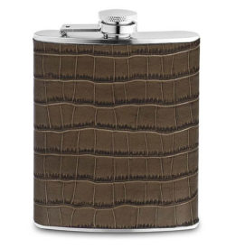 Photo of CROCSTYLE LEATHER FLASK