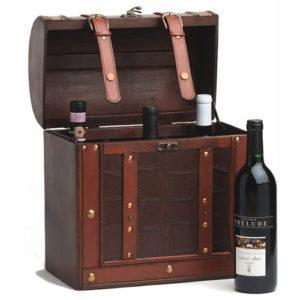 Photo of Chateau 6 Bottle Antique Wine Box