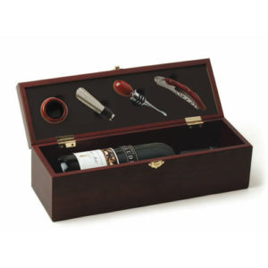 photo of Cherry 4-Piece Wine Accessory Gift Box