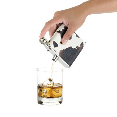 Photo of Cowhide Flask Pouring Liquor