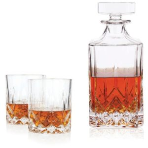PHoto of Crystal Tumbler and Decanter SEt