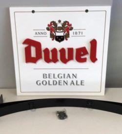 Photo of Duvel Belgian Golden Ale sign