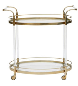 photo of Gold & Acrylic Bar Cart