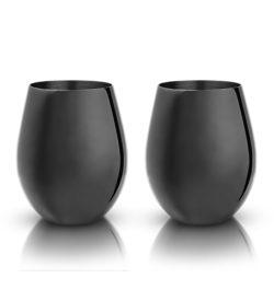 photo of Gunmetal Black Stemless Wine Glasses