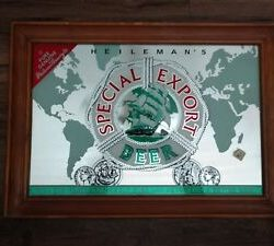 Photo of Heilman's Special Export Mirrored Sign in Wood Frame