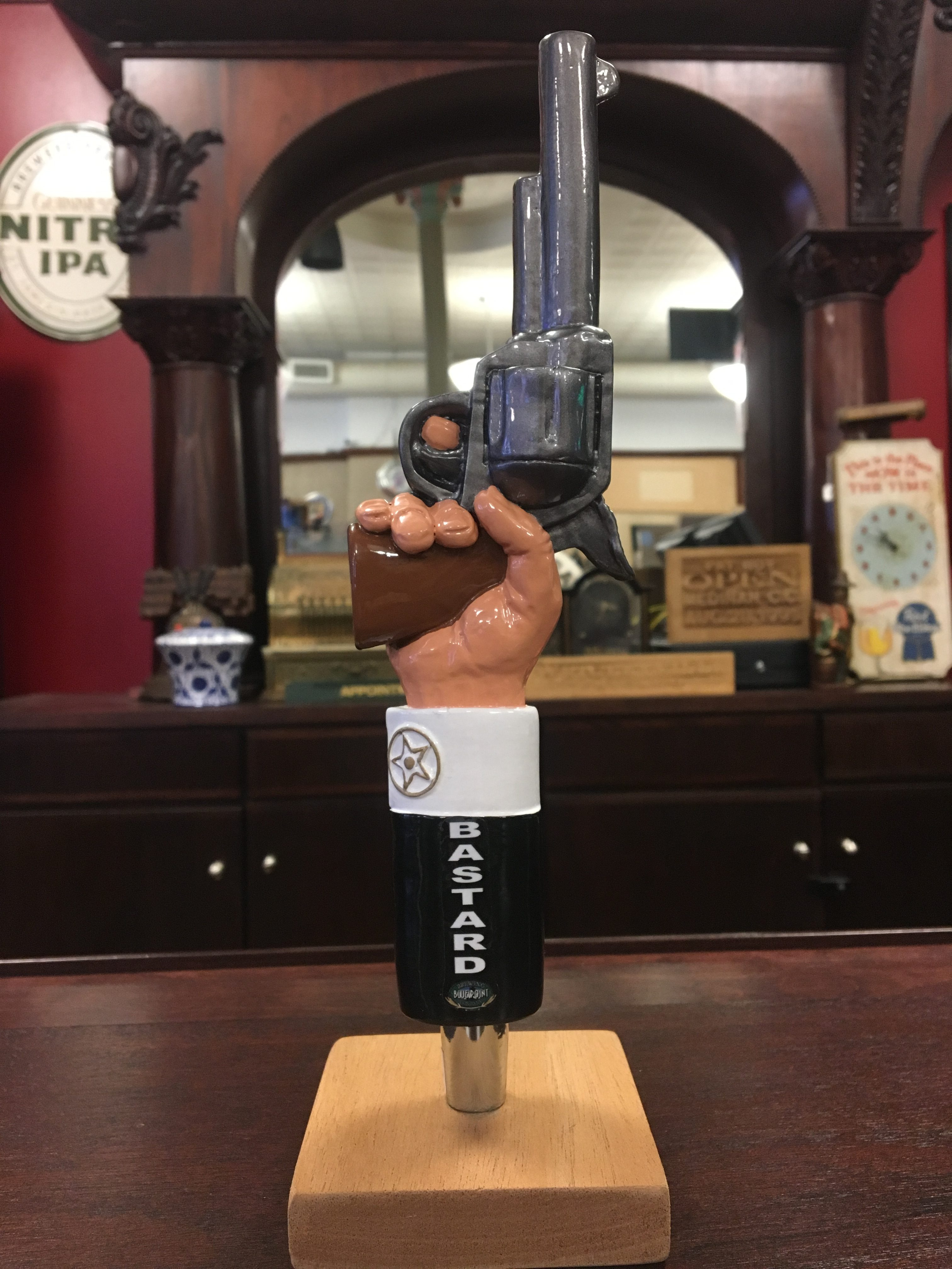 Photo Of Blue Point Brewing Co' Bastard Ale Tap Handle