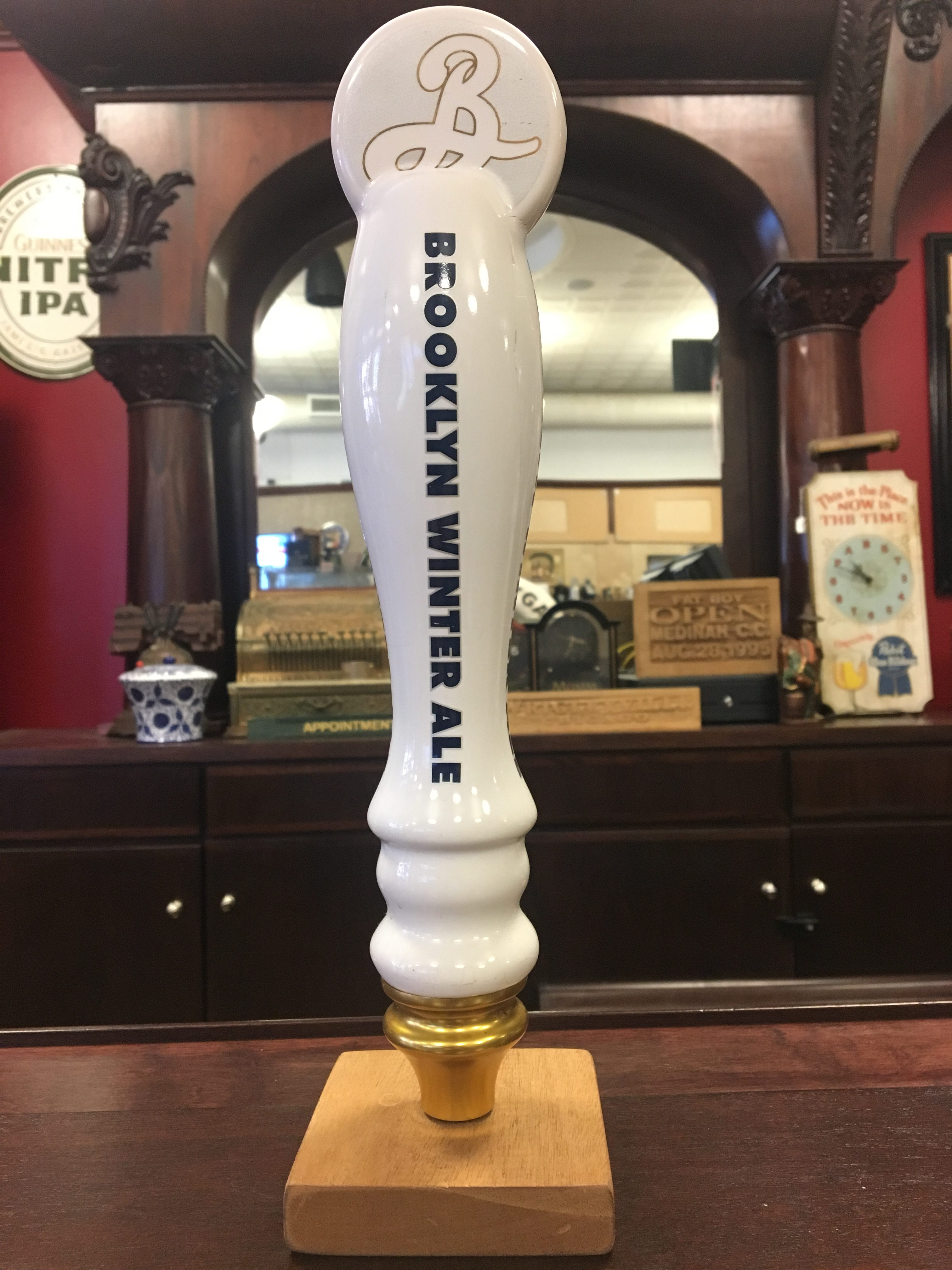 brooklyn brewery winter ale tap handle