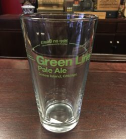 Photo Of Goose Island Brewing Co' Green Line Pale Ale Beer Glass