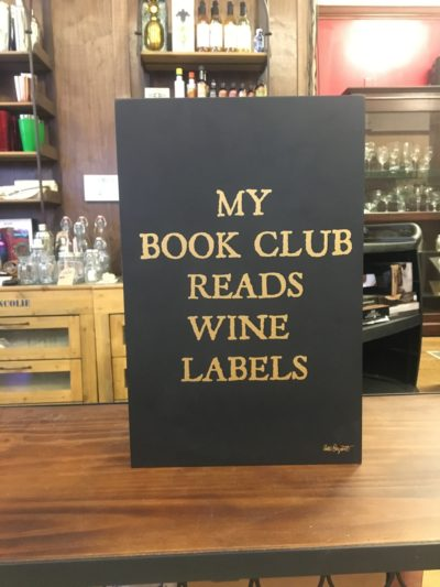 "Photo of ""My Book Club Reads Wine Labels"" Wooden Sign"