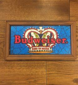 photo of Budweiser King Of Beer Foil Art Print Framed