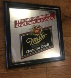 Photo of Miller High Life Genuine Draft Vintage Bar Mirror