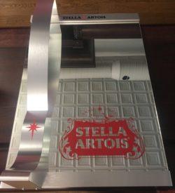 Photo of Stella Artois Vintage Metal Decor Lighted Mirror