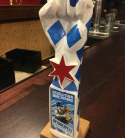 Photo of revolution Brewing Oktoberfest German Style Lager Tap Handle