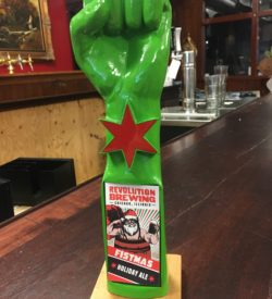 Photo of Revolution Brewing Co' Fistmas Holiday Ale Tap Handle