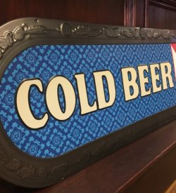 """Photo of PBR """"Cold Beer"""" Long Tin Sign New"""