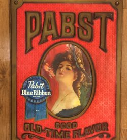 "Photo of PBR ""Good Ole Time Flavor"" Vintage Sign"