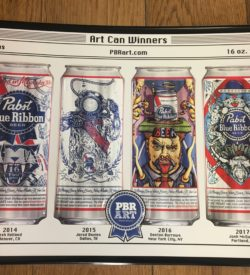 Photo of Pabst Blue Ribbon Art Can Series Sign