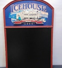 Photo of Icehouse plank road brewery chalkboard sign