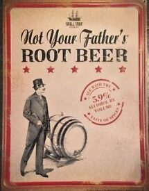 Photo of Not your fathers root beer tin sign