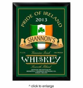 Photo Of Personalized Irish Whiskey Pub Sign