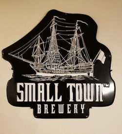 Photo of Small Town Brewery Tin Sign