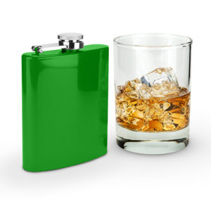 Photo Of Spectrum Glossy Green 6oz Flask