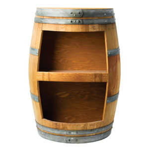 Photo of Wine Barrel Bar – Stave Bookcase Bar