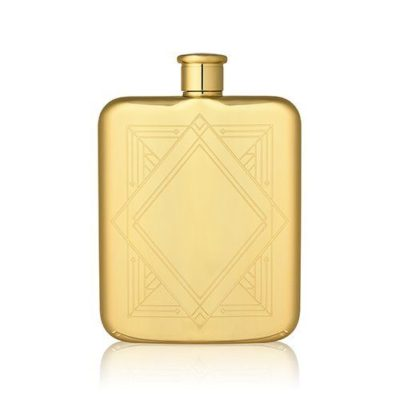 art deco gold flask photo