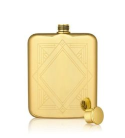 art deco gold flask no top photo