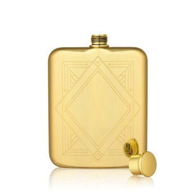 art deco gold flask no top photo