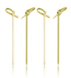 photo of bamboo cocktail picks