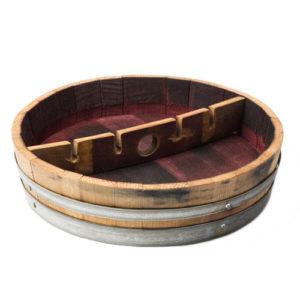 photo of barrel stemware rack