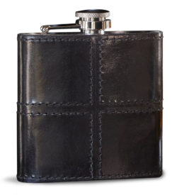 Photo of black leather flask