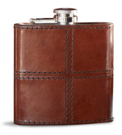 Photo of brown leather flask