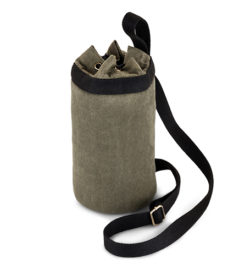 photo of canvas growler tote solo