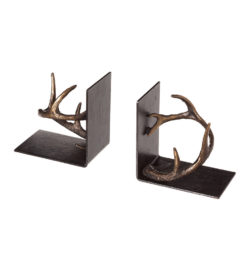 photo of cast metal antler wine holder book ends