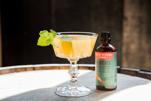 photo of citrus bitters in glass
