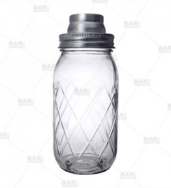 Photo of diamond cut mason jar shaker