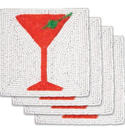 photo of epic holiday red martini glass coasters