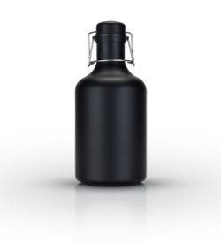 photo of flip top growler matte black