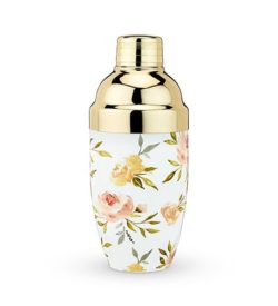 floral cocktail shaker photo