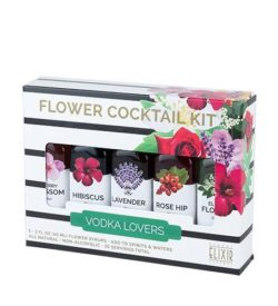 flower cocktail kit - liquor photo